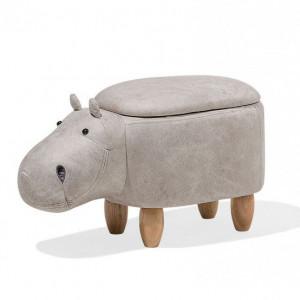 Taburet HIPPO gri deschis