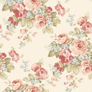 Tapet Garretson roz / bej, 10m x 52 cm