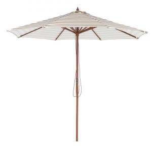 Umbrela de gradina Ferentillo, alb/bej/maro, 245 x 260 x 260 cm