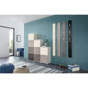 Usa de dulap Colorado MDF/aluminiu, negru mat, 52 x 41.5 x 1.6 cm