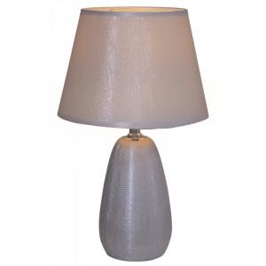 Veioza Simply Ceramics, ceramica/tesatura, argintie, 23 x 37 x 23 cm, 40w