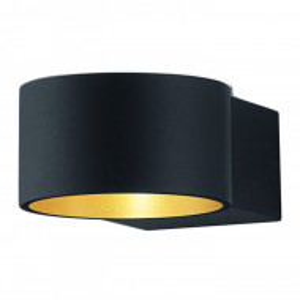 Aplica LED Lacapo metal, negru mat, rotunda, 230 V, 4 W, 430 lm