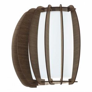 Aplica Stellato sticla/lemn, maro, 1 bec, 230 V