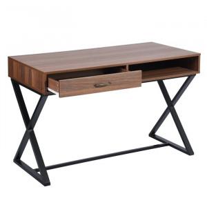 Birou Noreen, metal/lemn, maro, 75 x 120 x 60 cm