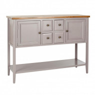 Bufet rustic Amy, taupe/maro, 116 x 86 x 38 cm