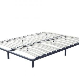 Cadru de pat Basic, alb/negru, 180 x 200 cm
