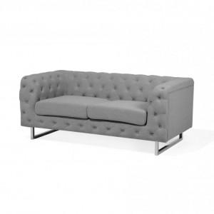 Canapea cu 2 locuri VISSLAND, tesatura gri