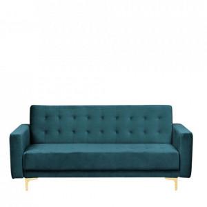 Canapea extensibila Aberdeen, 3 locuri, catifea, verde smarald