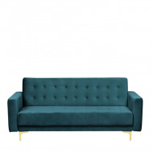 Canapea extensibilă Aberdeen, verde smarald, 83 x 186 x 88 cm