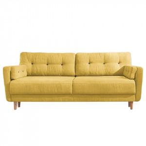 Canapea extensibila Primm ,3 locuri, verde buratic