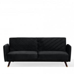 Canapea extensibila Senja, negru, 87 x 200 x 95 cm