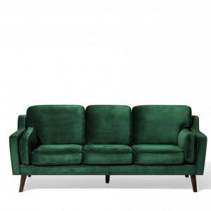 Canapea Lokka, verde, 85 x 204 x 83 cm