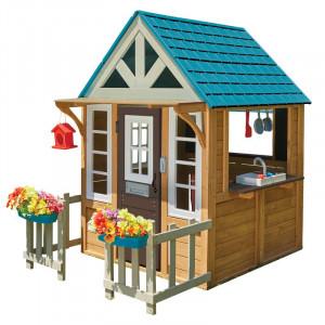 Casa de joaca pentru copii KidKraft, lemn masiv, multicolor, 163 x 124 x 173 cm