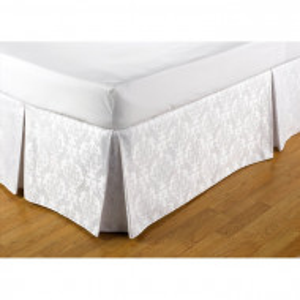 Cearceaf de pat, poliester/bumbac, alb, 137 x 191 cm