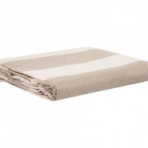 Cearșaf de pat Aprica bej / alb, 270x270 cm