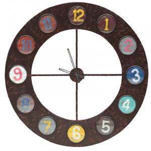 Ceas analogic de perete XXL, maro, 100 x 100 x 2 cm