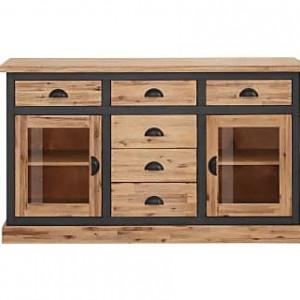 Comoda tip bufet Juliane Home Affaire, 150x40x86 cm, lemn masiv de salcam