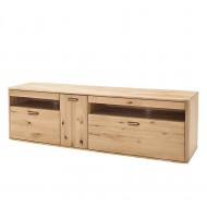 Comoda TV Forge lemn masiv de stejar balcanic/HDF, maro, 186 cm