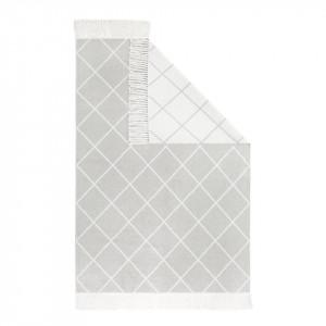Covor bumbac Glitter - 140 x 200 alb/gri