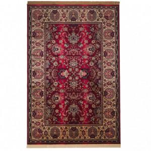 Covor cu franjuri Bid, rosu/bej, 200 x 300 cm