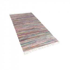 Covor Danca, tesut manual, multicolor deschis, 80 x 150 cm