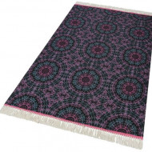 Covor Home Collection din bumbac, negru/roz, 120 x 180 cm