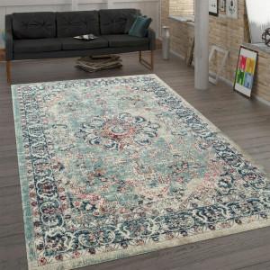 Covor Hotaling, albastru/roz/bej, 80 x 150 cm