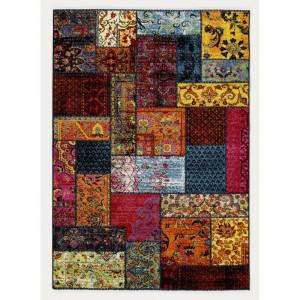 Covor Jeanne Shag roșu / galben, 80 cm x 150 cm
