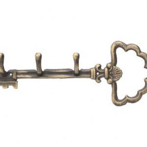 Cuier Armelle in forma de cheie, aspect vintage