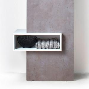 Cuier hol Funda - decor beton/alb