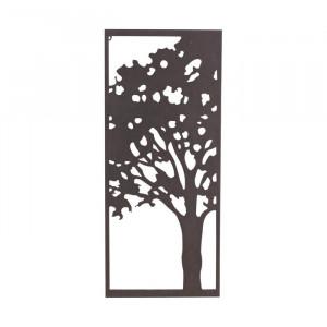 Decor de perete, metalic, negru, 99 x 43 cm