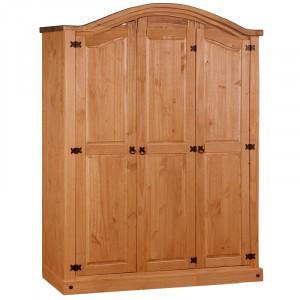 Dressing Doe, lemn masiv, maro, 178 x 150 x 50 cm