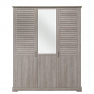 Dulap Ardmore, gri, 208 x 170 x 60 cm