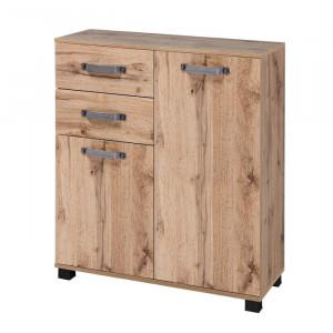 Dulap Renteria, lemn masiv, maro, 94,8 x 80,6 x 32 cm