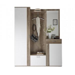 Dulap Willmore, lemn, maro, 184 x 48 x 29 cm