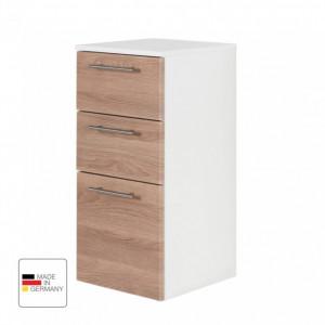 Dulapior Viva MDF/otel inoxidabil, alb/maro, 35 x 75 x 37 cm