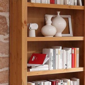 Extensie de biblioteca Billie lemn masiv, maro, 81 x 27 x 213 cm