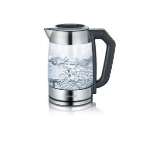 Fierbator de sticla, transparent/argintiu, 27 x 23,5 x 15,2 cm
