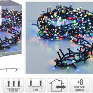 Instalatie KARL 14 m, 700 LED uri, lumina multicolora