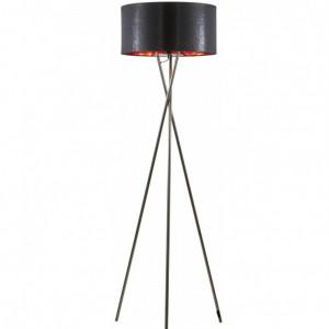 Lampadar Giovanna, negru/crom, 154 x 45 x 22 cm