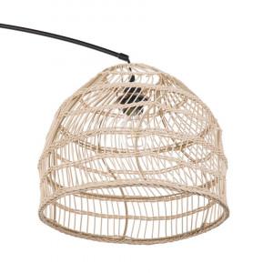 Lampadar GUAVIARE, metal/ratan, bej/negru, 195 x 33 x 33 cm, 60w