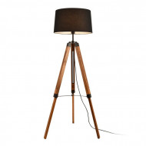 Lampadar Wirrida, metal/lemn, 144 x 45 x 40 cm, 60w