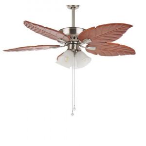 Lustra cu ventilator GILA, lemn/metal, maro/argintiu