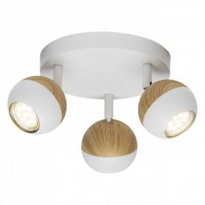 Lustra LED Scan II otel, alb, 3 becuri, diametru 18 cm, 3 W