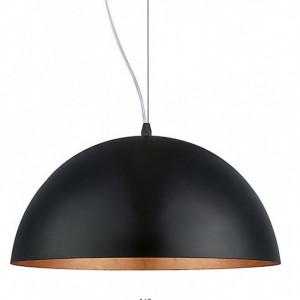 Lustra tip pendul Gaetano I otel, negru/crom, diametru 38cm, 1 bec, 230 V