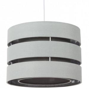 Lustra tip pendul Hek tesatura/metal, gri, rotunda, 1 bec, diametru 35 cm, 230 V
