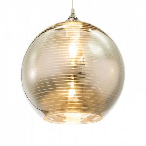 Lustra tip pendul Jorah, sticla/fier, argintiu, 1 bec, diametru 25 cm
