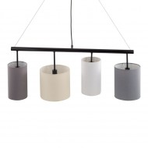 Lustra tip pendul Kamia stofa/metal, multicolor, 5 becuri, 230 V