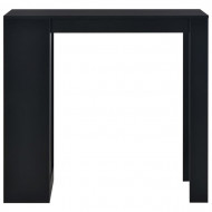 Masa de bar Atalanta, PAL, neagra, 110 x 50 x 103 cm