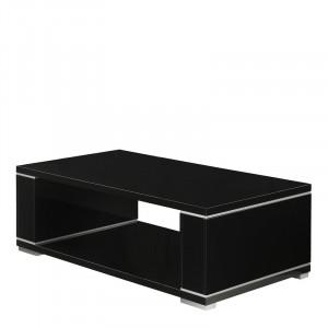 Masa de cafea, negru, 43 x 130 x 70 cm